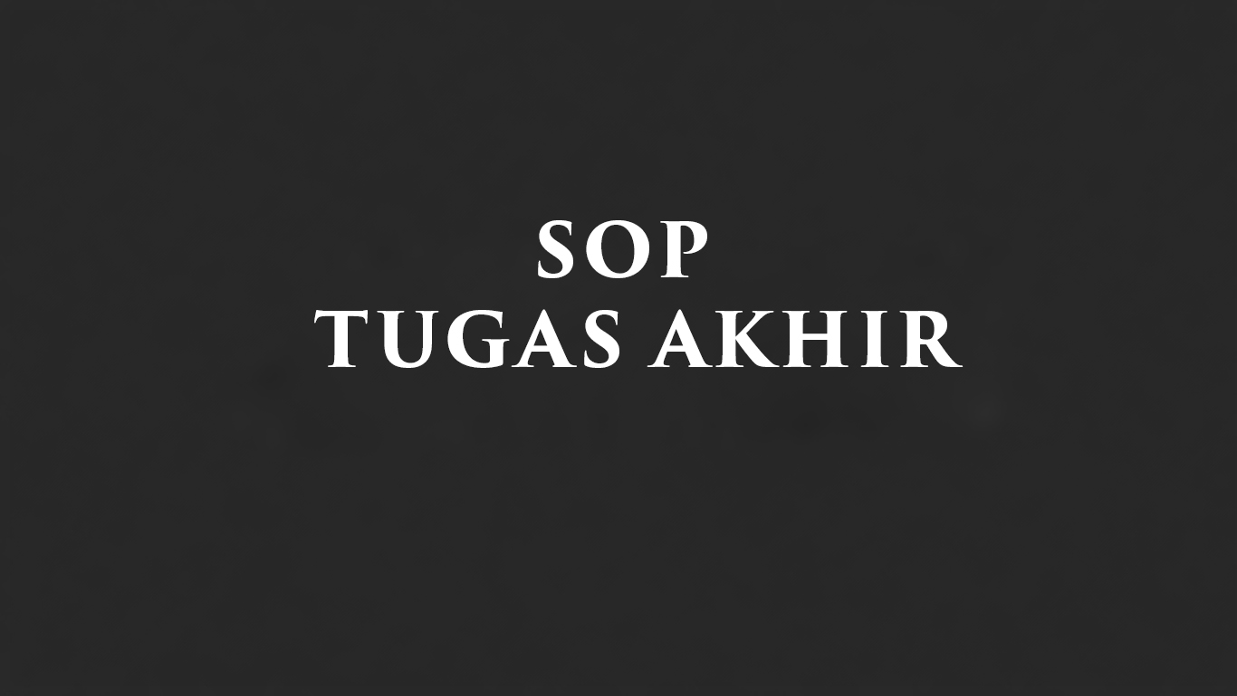 SOP Tugas Akhir